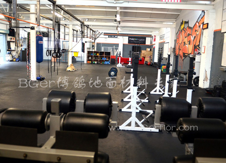 健身运动力量区域地板铺装