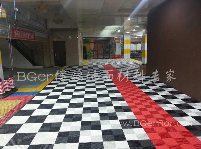 汽车装潢维修厂地板地面格栅处理材料