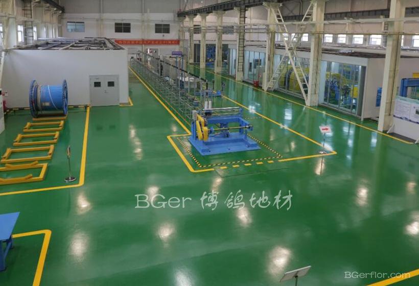 工业厂房车间彩色地板-4