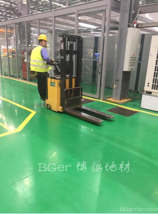厂房车间彩色工业地板