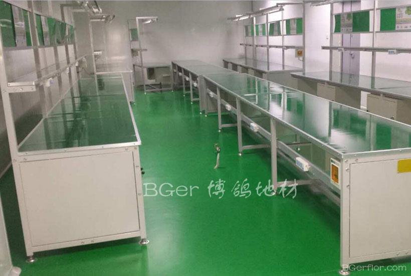 生产包装车间工业耐磨地板-5