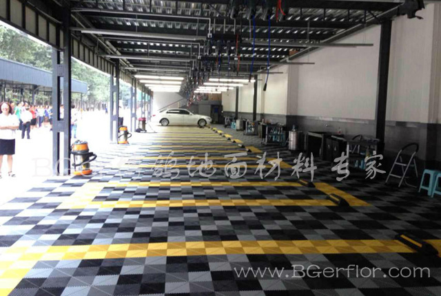 汽车4S店美容贴膜保养车间地面网格板格栅 汽车装潢维修厂地板地面