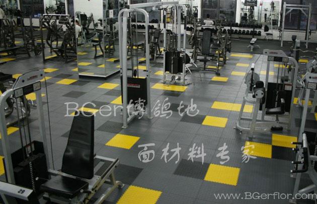健身房塑胶地板 健身房用什么地板好:简易拼接式健身房地板材料 一站式解决需求